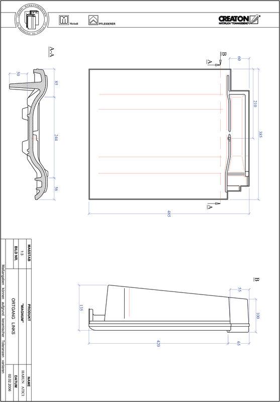 Plik CAD produktu MAGNUM dachówka boczna lewa OGL