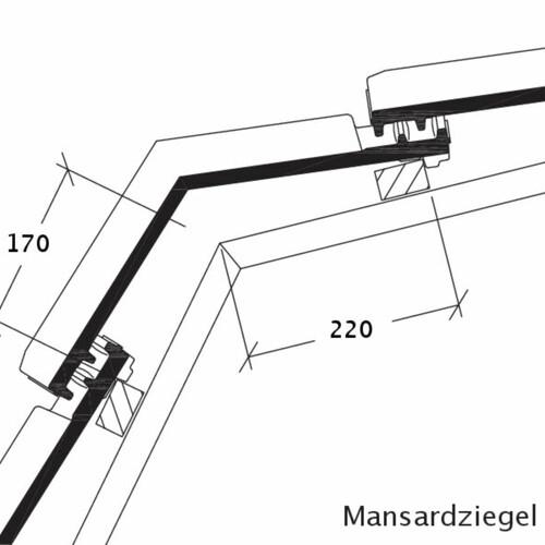 Rysunek techniczny produktu HARMONICA dachówka mansardowa MAZ