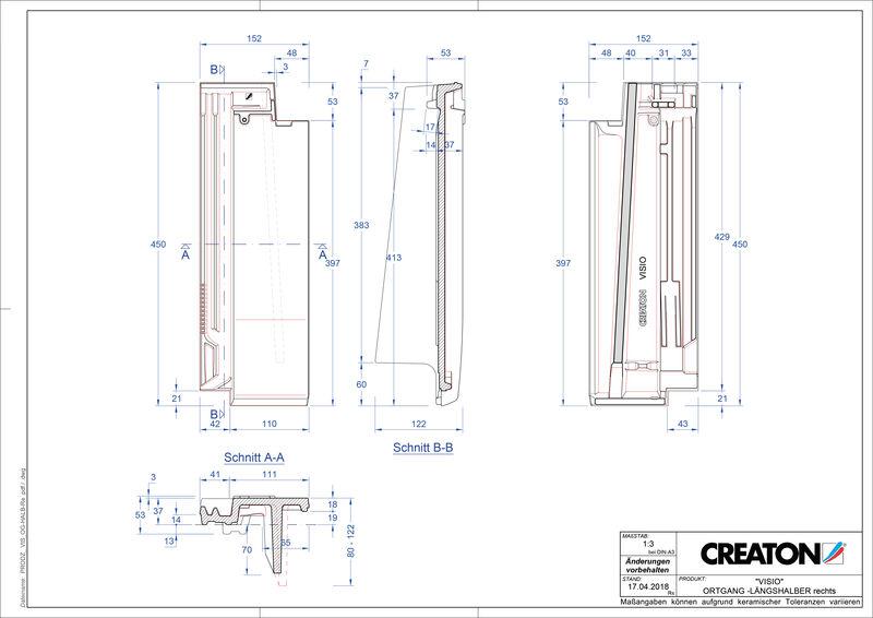 Plik CAD produktu VISIO dachówka połówkowa boczna prawa LHOGR