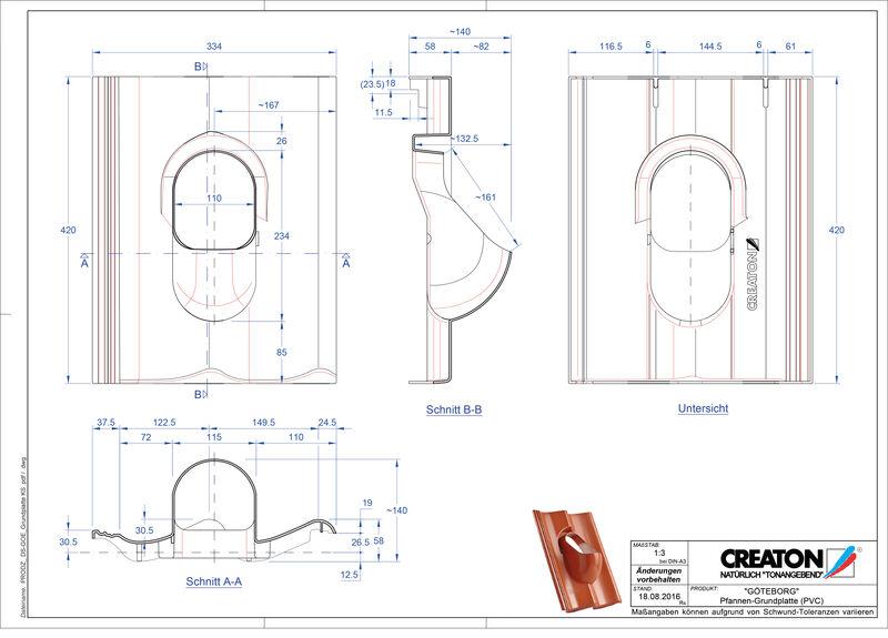 Plik CAD produktu GÖTEBORG akcesoria Grundplatte-PVC