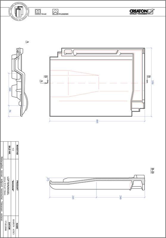 Plik CAD produktu MAGNUM dachówka wentylacyjna LUEFTZ