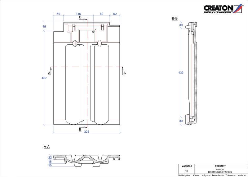 Plik CAD produktu RAPIDO dachówka dwufalowa DWZ