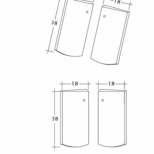 Rysunek techniczny produktu PROFIL Kera-Saechs-18cm-Unterlaeufer