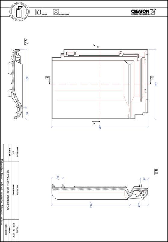 Plik CAD produktu MAGNUM dachówka kalenicowa wentylacyjna FALZ