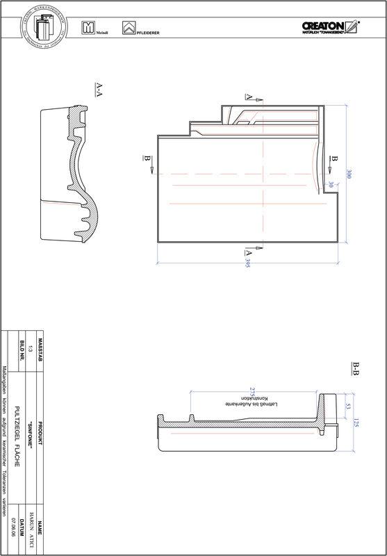 Plik CAD produktu SINFONIE dachówka pulpitowa połaciowa PULTFLA