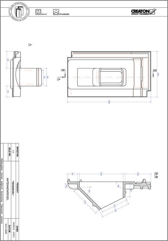 Plik CAD produktu HERZZIEGEL dachówka antenowa ANTENNNE
