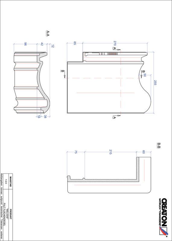 Plik CAD produktu MELODIE dachówka pulpitowa połaciowa PULTFLA