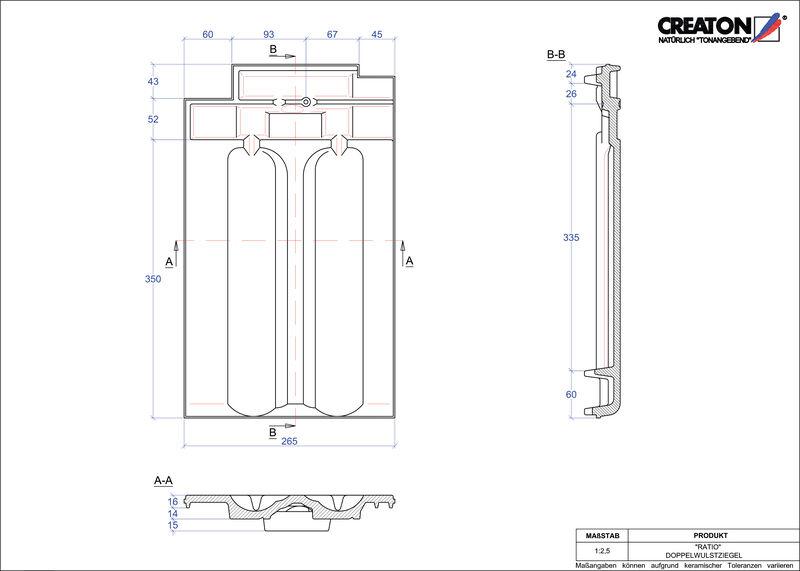 Plik CAD produktu RATIO dachówka dwufalowa DWZ