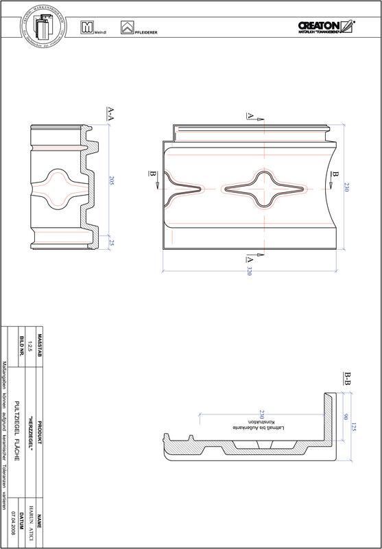 Plik CAD produktu HERZZIEGEL dachówka pulpitowa połaciowa PULTFLA