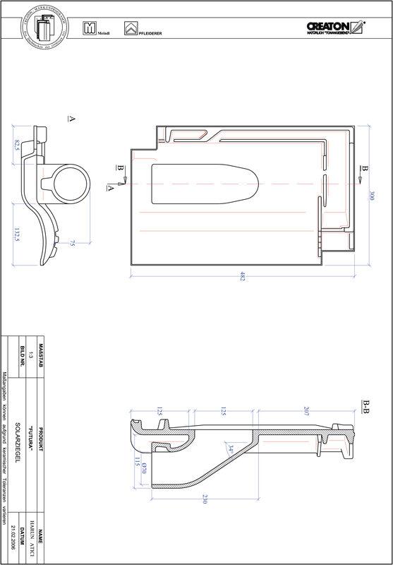 Plik CAD produktu FUTURA dachówka przelotowa do systemu baterii solarnych SOLAR