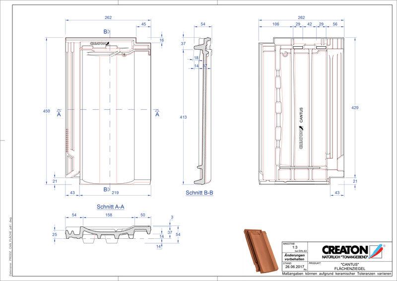 Plik CAD produktu CANTUS dachówka połaciowa FLA