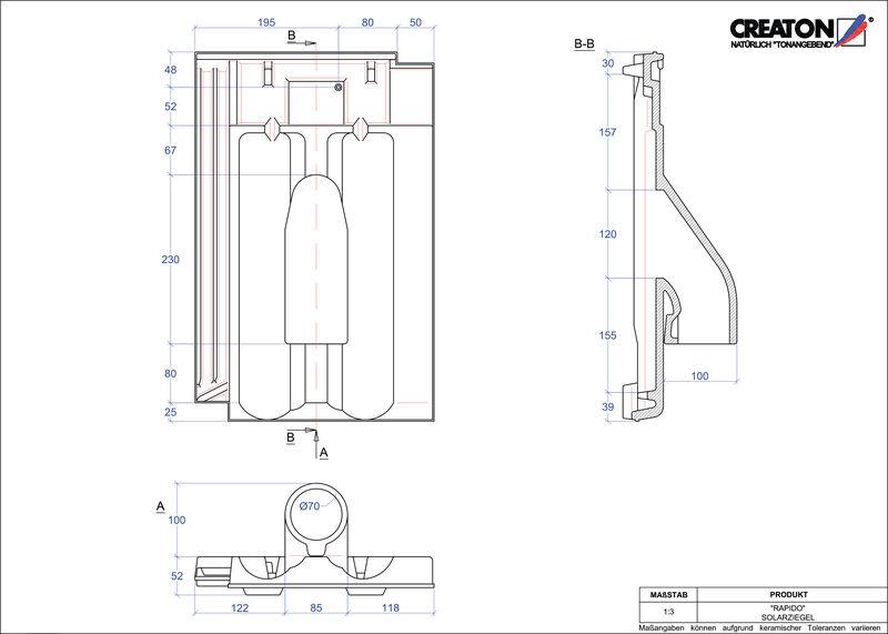 Plik CAD produktu RAPIDO dachówka przelotowa do systemu baterii solarnych SOLAR