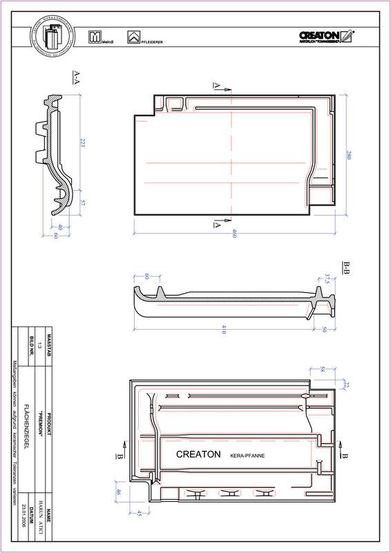 Plik CAD produktu PREMION dachówka połaciowa FLA