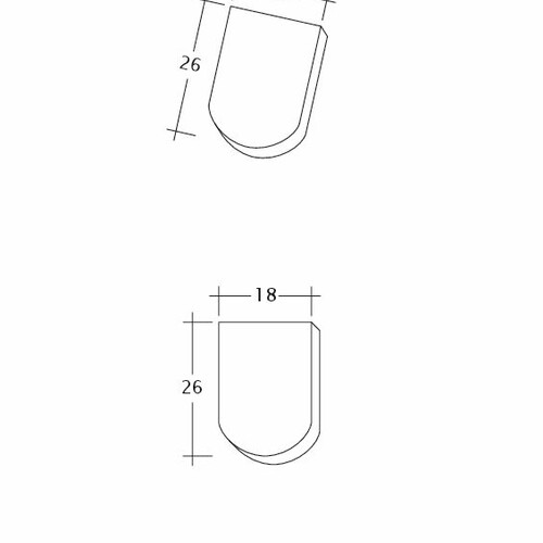 Rysunek techniczny produktu KLASSIK Firstanschluss