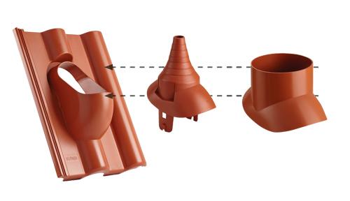 Dachówki cementowe (betonowe) CREATON - funkcjonalne akcesoria