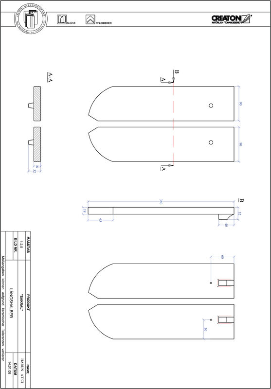Plik CAD produktu SAKRAL krój zaokrąglony RUND-LH