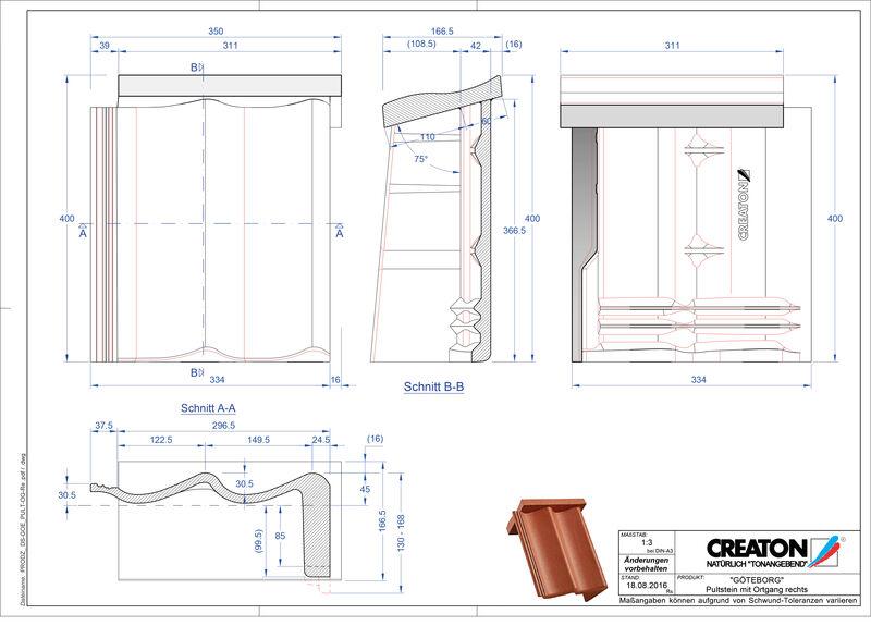 Plik CAD produktu GÖTEBORG dachówka pulpitowa boczna prawa PultOGR