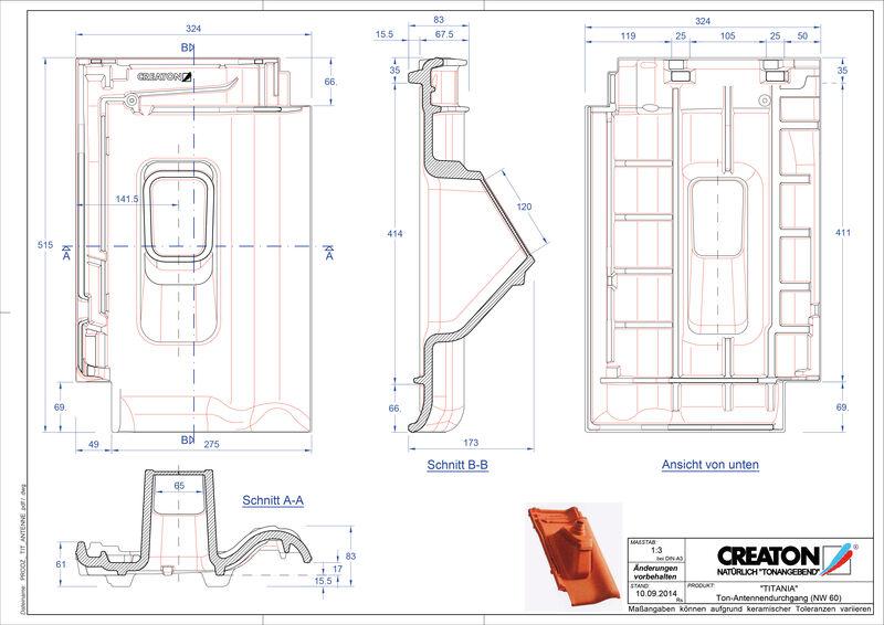 Plik CAD produktu TITANIA dachówka antenowa ANTENNE