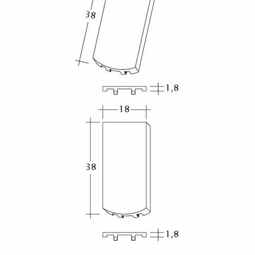 Rysunek techniczny produktu AMBIENTE Seg-Flaechen-LUEFTZ
