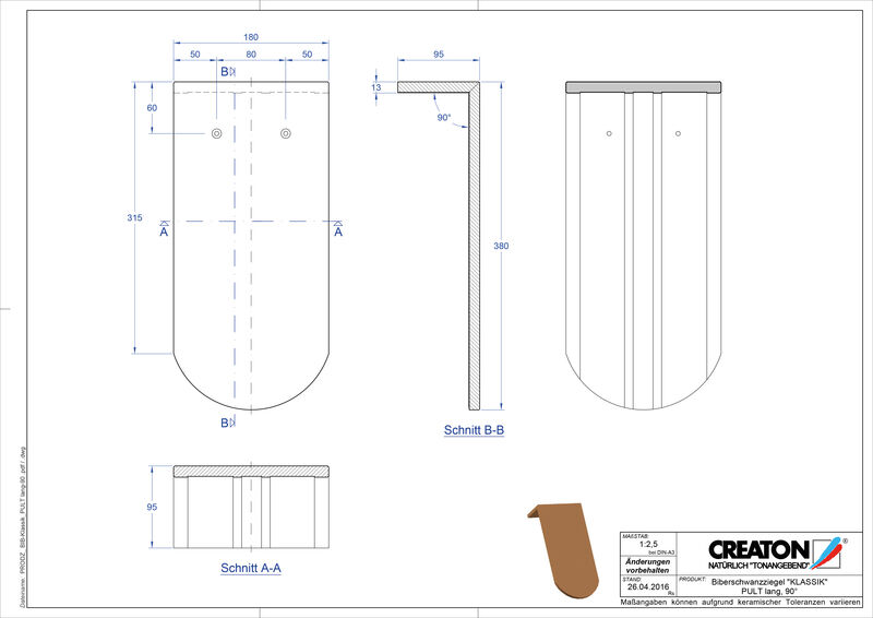 Plik CAD produktu KLASSIK krój zaokrąglony RUND-PULT-lang