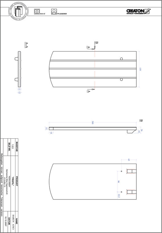 Plik CAD produktu PROFIL krój segmentowy KERA-SAECHS-15-CM-1-1