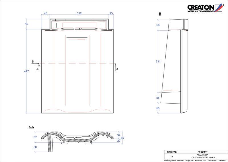Plik CAD produktu BALANCE dachówka boczna lewa OGL