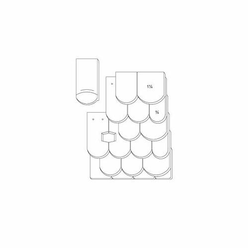 Rysunek techniczny produktu KLASSIK OGAusbildung-Doppeldeckung-3-4-1-1-4-Traufziegel
