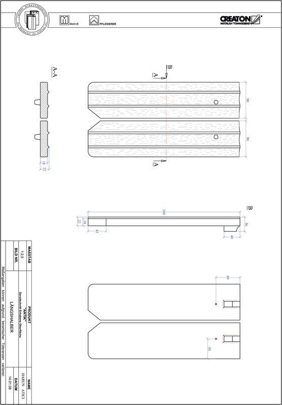 Plik CAD produktu ANTIK krój prosty GER-LH