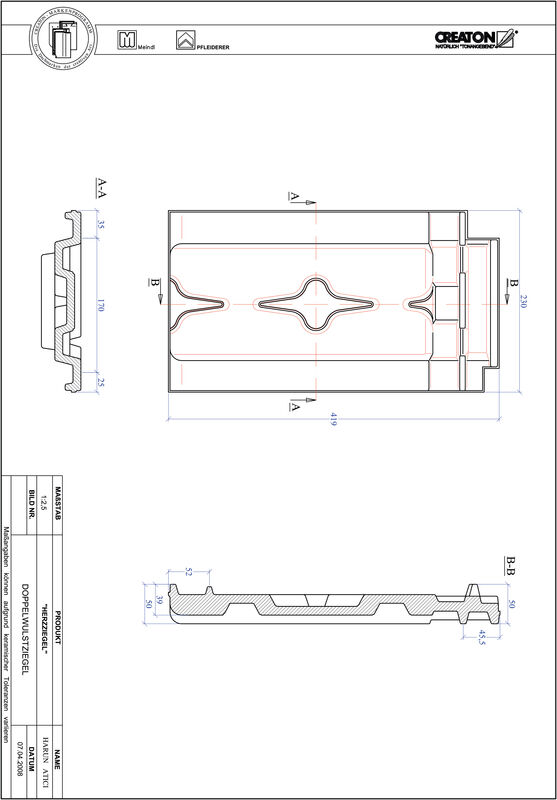 Plik CAD produktu HERZZIEGEL dachówka dwufalowa DWZ