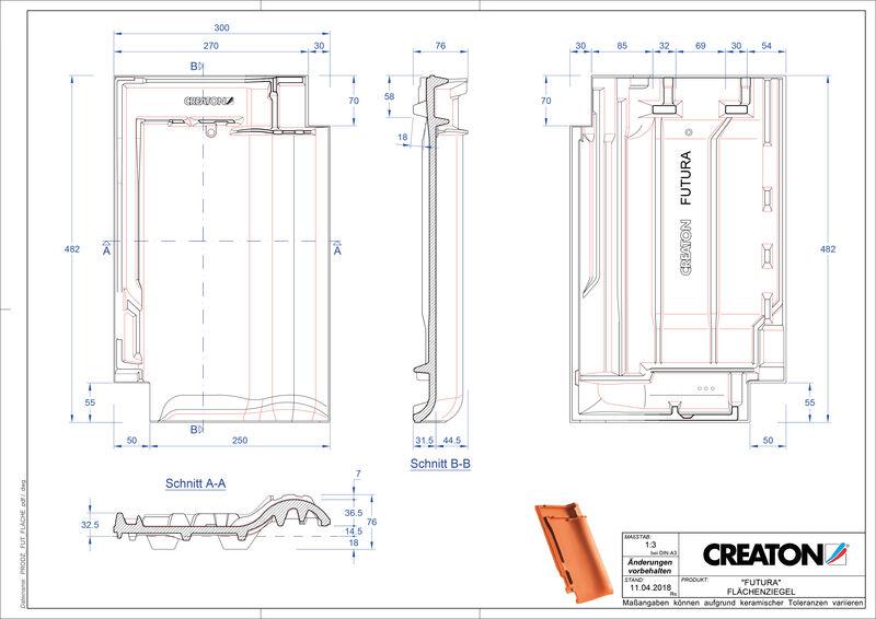 Plik CAD produktu FUTURA dachówka połaciowa FLA