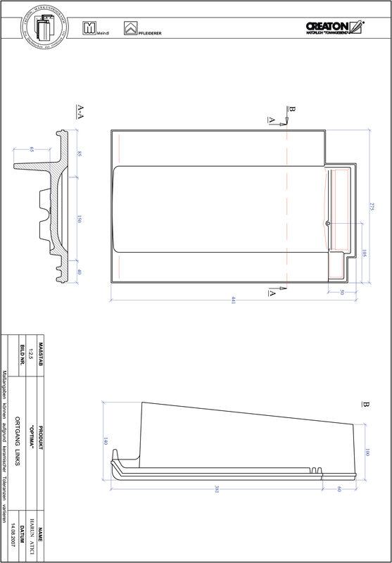 Plik CAD produktu TERRA OPTIMA dachówka boczna lewa OGL