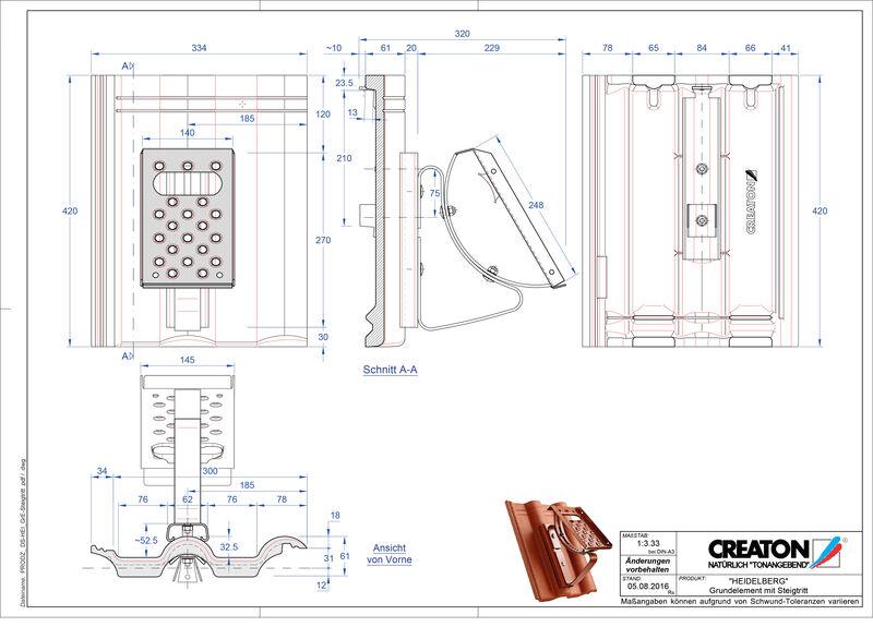 Plik CAD produktu HEIDELBERG dach. podst. Steigtritt