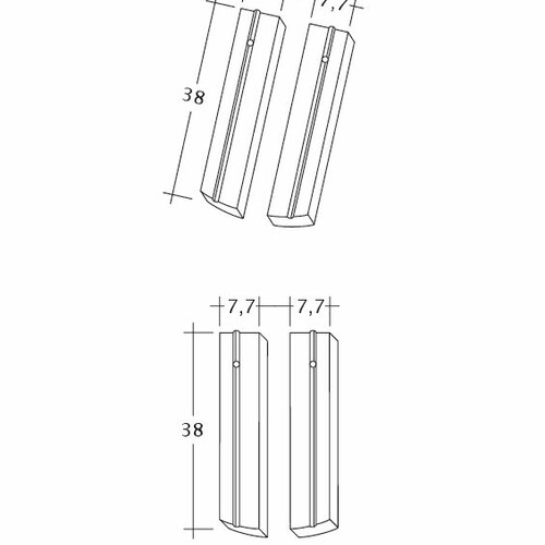 Rysunek techniczny produktu PROFIL Kera-Saechs-15cm-1-2