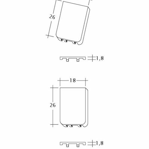 Rysunek techniczny produktu KLASSIK Traufluefter