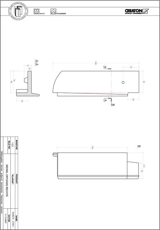 Plik CAD produktu KLASSIK krój zaokrąglony RUND-OGR
