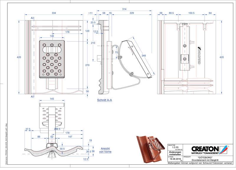 Plik CAD produktu GÖTEBORG dach. podst. Steigtritt