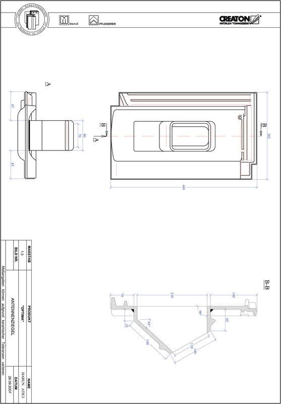 Plik CAD produktu OPTIMA dachówka antenowa ANTENNE