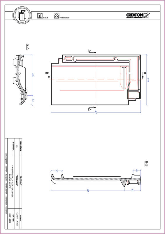 Plik CAD produktu MAGNUM dachówka kalenicowa wentylacyjna połówkowa FALLH