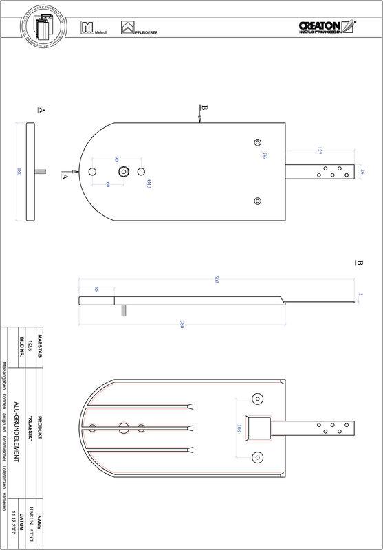 Plik CAD produktu KLASSIK krój zaokrąglony RUND-GRUNDALU
