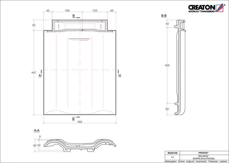 Plik CAD produktu BALANCE dachówka dwufalowa DWZ