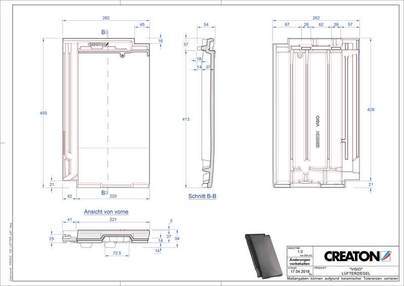 Plik CAD produktu VISIO dachówka wentylacyjna LUEFTZ