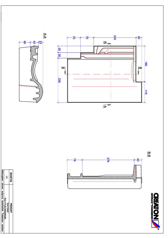 Plik CAD produktu SINFONIE dachówka pulpitowa PULT