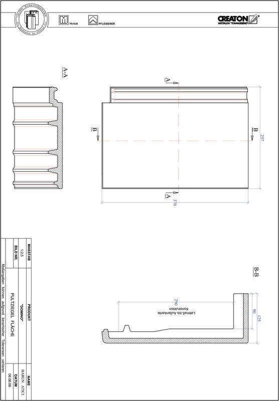 Plik CAD produktu DOMINO dachówka pulpitowa połaciowa PULTFLA