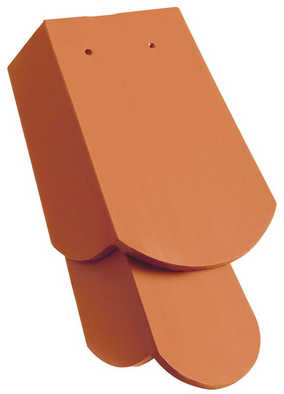 KLASSIK krój zaokrąglony dachówka boczna prawa 1 1/4 z długim okapnikiem ok. 11 cm