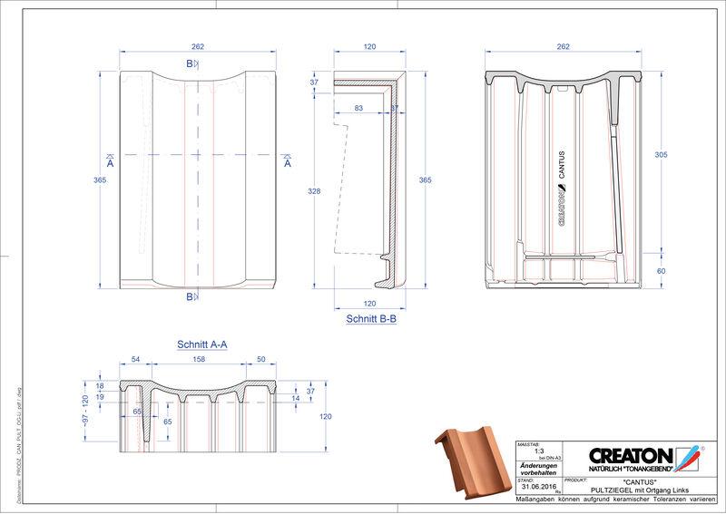 Plik CAD produktu CANTUS dachówka pulpitowa boczna lewa PULTOGL