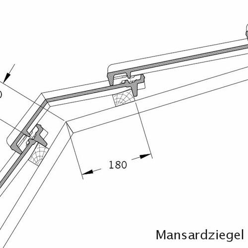 Rysunek techniczny produktu dachówka mansardowa CANTUS MAZ