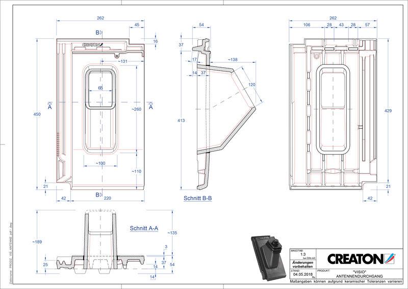 Plik CAD produktu VISIO dachówka antenowa ANTENNE