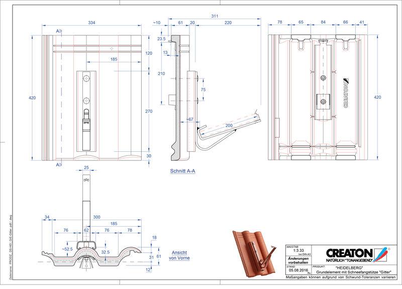 Plik CAD produktu HEIDELBERG dach. podst. Gitter