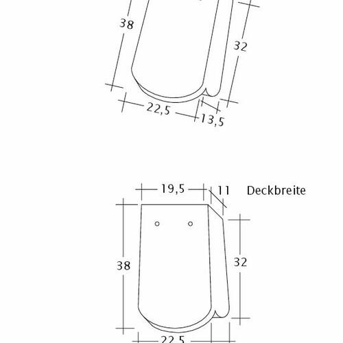 Rysunek techniczny produktu KLASSIK OG-1-1-4