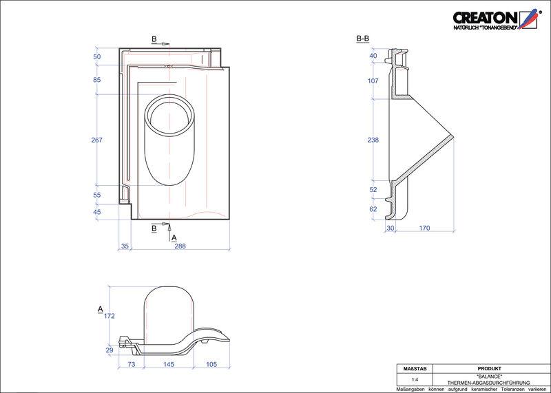 Plik CAD produktu BALANCE dachówka przelotowa do kominów gazowych THERME